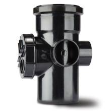 Polypipe Soil Access Pipe Single Socket 110mm Black BSA43