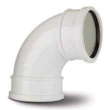 Polypipe Soil Bend Double Socket 110mm x 92.5 Degrees White