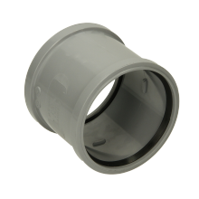 Polypipe Ring Seal Soil Double Socket Coupler 110mm Grey