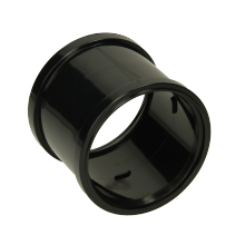 Polypipe Soil Double Socket 110mm Black