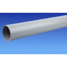Polypipe Solvent Weld Soil Plain Ended Pipe 110mm x 3m Solvent Grey
