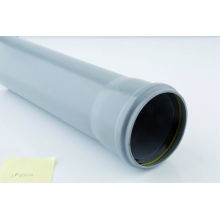 Polypipe Soil Pipe Single Socket 110mm x 3 Metres