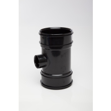 Polypipe Solvent Boss Pipe Double Socket 110mm x 40mm Black