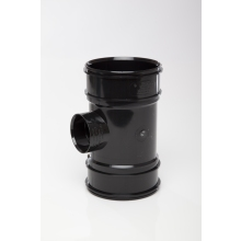 Polypipe Solvent Boss Pipe Double Socket 110mm x 50mm Black