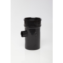 Polypipe Solvent Boss Pipe Single Socket 110mm x 32mm Black