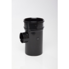 Polypipe Solvent Boss Pipe Single Socket 110mm x 50mm Black