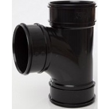 Polypipe Solvent Branch 3 Socket 110 x 87.5 Degrees Black