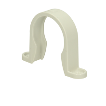 Polypipe Solvent Weld Waste ABS Pipe Clip 40mm White