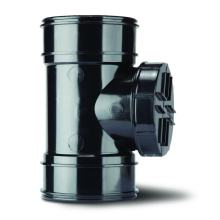 Polypipe Solvent Short Access Pipe Double Socket 110mm Black