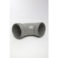 Polypipe Solvent Soil Bend Double Socket 160mm x 92.5 Degrees Grey