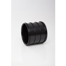 Polypipe Solvent Soil Coupler Double Socket 110mm Black