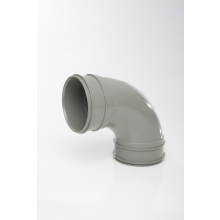 Polypipe Solvent Soil Double Socket Bend 110mm x 92.5 Degrees Grey
