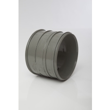 Polypipe Solvent Soil pipe Coupler Double Socket 160mm Grey