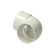 Polypipe Solvent Weld Waste ABS Knucklebend 50mm x 90 Degrees White