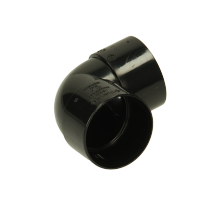 Polypipe Solvent Weld Waste ABS Knucklebend 40mm x 90 Degrees Black