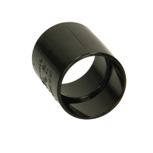 Polypipe Solvent Weld Waste ABS Straight Coupling 32mm Black