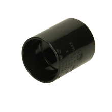 Polypipe Solvent Weld Waste ABS Straight Coupling 40mm Black