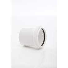 Polypipe Solvent Weld Waste ABS Expansion Coupling 50mm White
