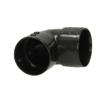 Polypipe Solvent Weld Waste ABS Knucklebend 32mm x 90 Degrees Black