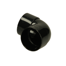 Polypipe Solvent Weld Waste ABS Knucklebend 50mm x 90 Degrees Black