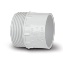 Polypipe Solvent Weld Waste ABS Male Iron Adaptor 40mm White