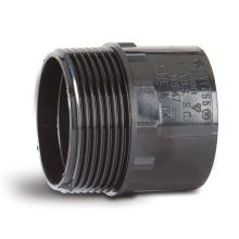 Polypipe Solvent Weld Waste ABS Male Iron Adaptor 32mm Black
