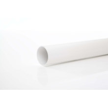 Polypipe Solvent Weld Waste ABS Pipe 50mm x 3m White