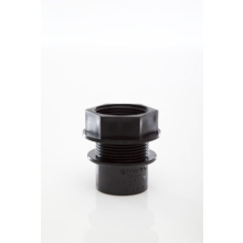 Polypipe Solvent Weld Waste ABS Tank Connector 32mm Black