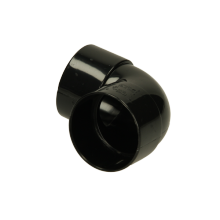 Polypipe Solvent Weld Waste MUPVC Knucklebend 50mm x 90 Degrees Black