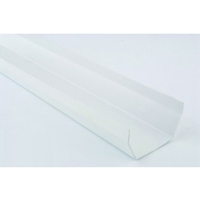 Polypipe Square Line Gutter 112mm x 4m White
