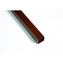 Polypipe Square Line Gutter Downpipe 65mm x 2.5m Brown