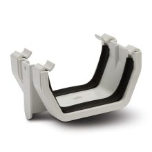 Polypipe Square Line Gutter Union Bracket 112mm White