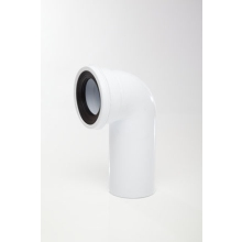 Polypipe S-Spigot Pan Connector 110mm 90 Degrees White