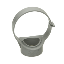 Polypipe Ring Seal Soil Strap-On Boss Open Side Fix Clip 110mm Grey