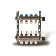 Polypipe UFH Stainless Steel 4 Port Push Fit Manifold - 15mm