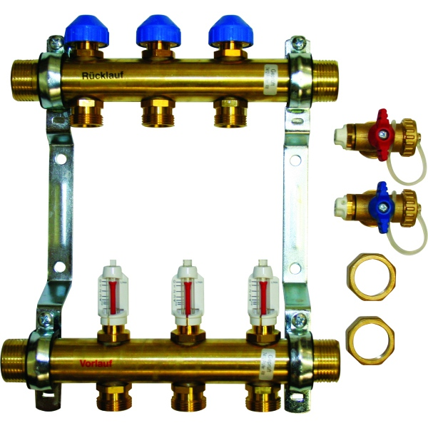 "Polypipe U/Floor Heating 1""DOM 3PT Manifold"