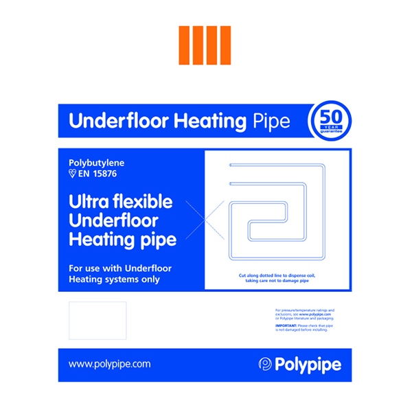Polypipe Underfloor Heating Barrier Pipe Coil 15mm x 100m