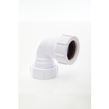 Polypipe Waste Compression Knuckle Bend 90 Degrees White