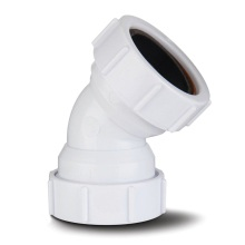 Polypipe Waste Compression Obtuse Bend 40mm x 45 Degrees White