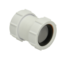 Polypipe Waste Straight Connector 40mm White