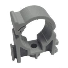 PolyPlumb 10mm Snap-Fit Clip Grey