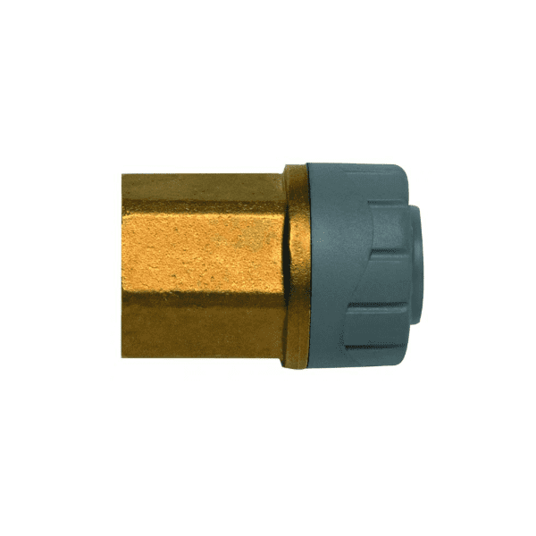 PolyPlumb 10mm x 3/8inch Female BSP Adaptor Brass