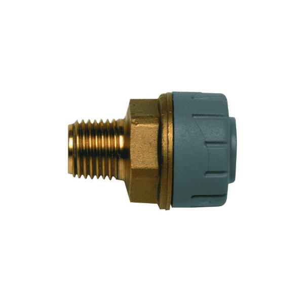 PolyPlumb 10mm x 3/8inch Male BSP Adaptor Brass