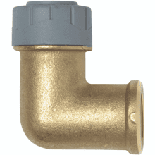 PolyPlumb 15mm x 1/2inch Female Elbow Brass