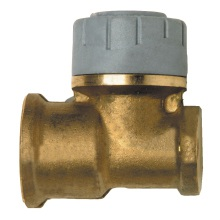 PolyPlumb 15mm x 1/2inch Wallplate Elbow Brass