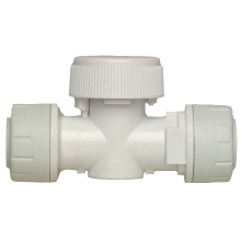 PolyPlumb 15mm x 15mm Shut Off Valve White