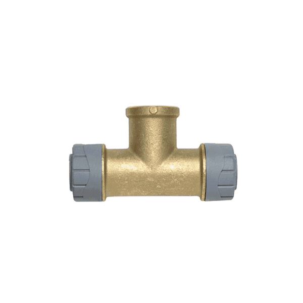 PolyPlumb 22mm x 1/2inch BSP Female Tee Brass