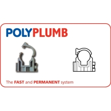 PolyPlumb 28mm Snap-Fit Clip Grey
