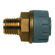 PolyPlumb 28mm x 1inch Male BSP Adaptor Brass