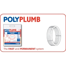 PolyPlumb 28mm x 25M Barrier Polybutylene Pipe Coil Grey